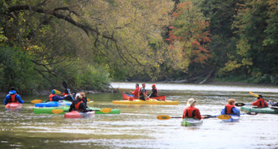 Kayaking on the Humber River