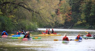 Kayaking on the Humber River